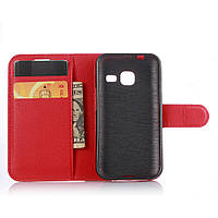 Чехол для Samsung Galaxy J1 Mini / J105 книжка кожа PU красный