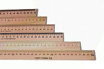 Шкільні лінійки 40см дерев'яні
