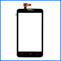 Тачскрин (сенсор) для Alcatel One Touch 8000d Scribe Easy, черный