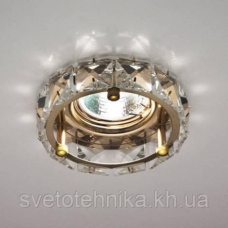 Світильник точковий декоративний з кристалами Feron СD4525 золото MR-16