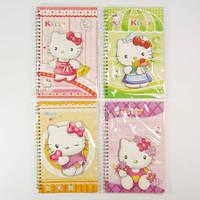 Блокноты на спирали АППЛИКАЦИЯ Hello Kitty (145x215mm) для записей