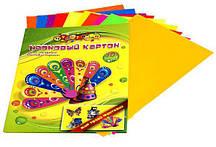 Картон неоновый A4 МУЛЬТЯШКИ в папке (10 цв., 200 гр.) для творчества