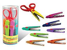 Ножницы детские ПЕГАШКА с фигурными лезвиями + 7 насадок (14см)