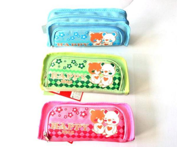 Пеналы-сумочки HAPPY BEAR (1 отделение, 1 карман)