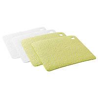 IKEA PLUSSIG Тряпка для мытья посуды, зеленый, белый  (502.576.01)