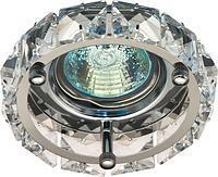 Світильник точковий декоративний з кристалами Feron СD4525 прозорий хром MR-16