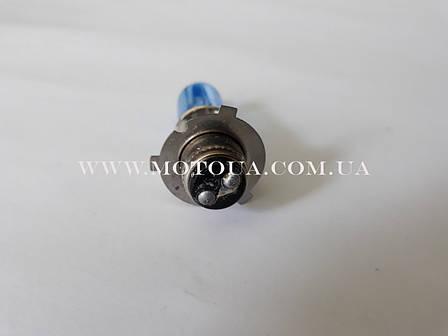 Лампа фары галоген СИНЯЯ P15D-25-3С длинный цоколь, фото 2