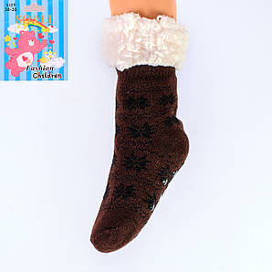 Тёплые детские домашние носки с тормозами SO&LI 8855-6 30-35