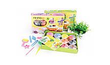 Масса для лепки AIHAO в коробке 10 цветов в баночках (5 формочек+стеки)