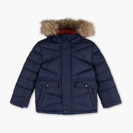 Детский зимний пуховик с опушкой на мальчика C&A Германия Размер 122
