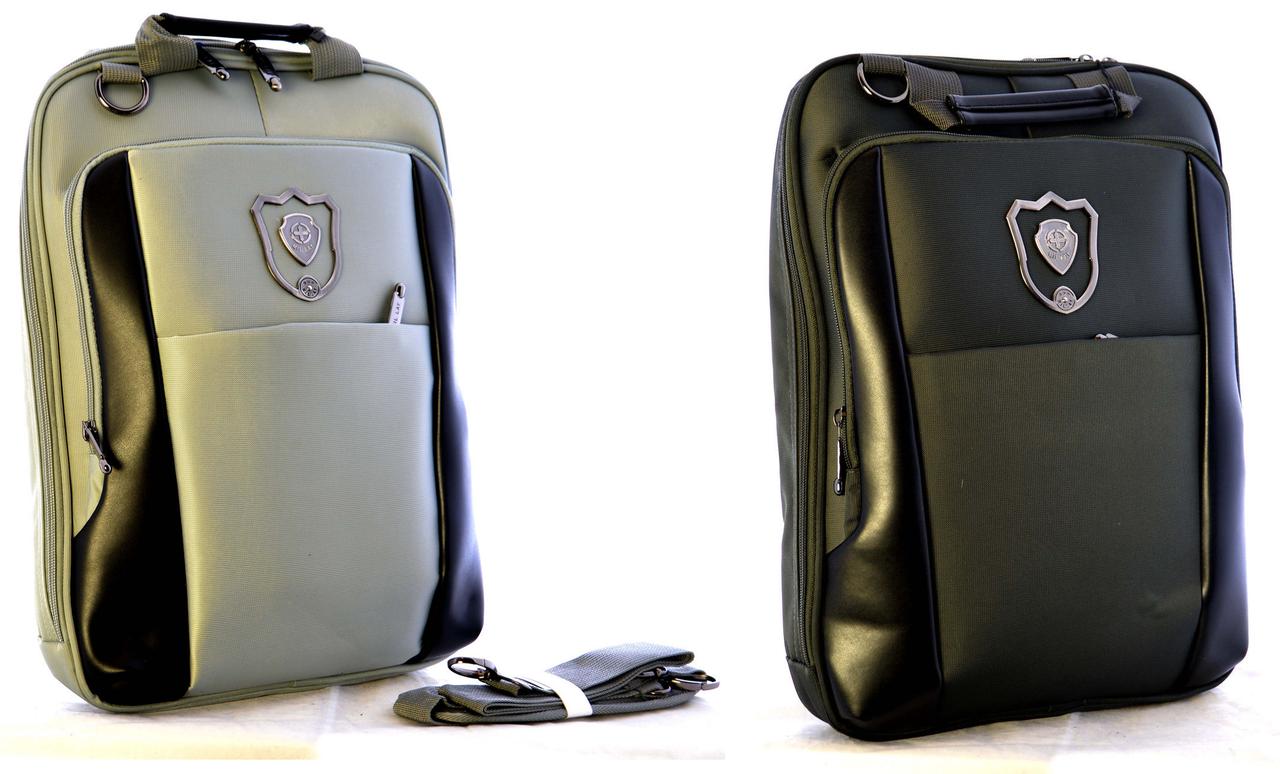 """Рюкзаки-сумки для ноутбука JOSEF OTTEN """"Черный-Серый"""""""