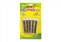 Наборы пайеток на картоне GLITTER  (5 шт/микс цветов) для рукоделия