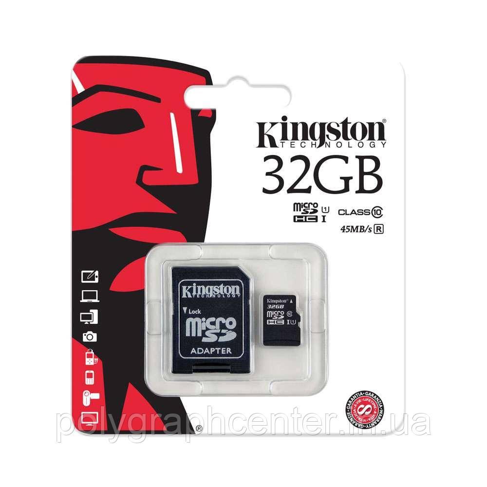 Карта памяти Kingston Micro SD 32 GB Class 10
