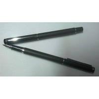 Ручки пір'яні BAOER чорні з сріблом