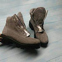 Ботинки женские весна-осень/зима замшевые 0125АЛМ