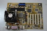 Комплект материнская плата Asus P4PE-X TE + процессор Intel  2.00 GHz, + кулер, s478