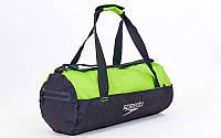 Сумка для спортзала Бочонок SPEEDO 8091907045 (полиэстер, р-р 52х23х23см, черно-зеленый)