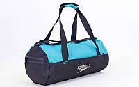 Сумка для спортзала Бочонок SPEEDO 8091908966 (полиэстер, р-р 52x23x23см, черно-голубой)