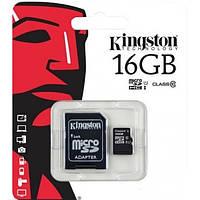 Карта памяти 16 GB Kingston Micro SD  Class 10
