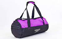 Сумка для спортзала Бочонок SPEEDO 8091908860 (полиэстер, р-р 52x23x23см, черно-фиолетовый.)