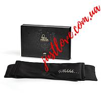 Маска для глаз Bijoux Indiscrets Shhh Blindfold - шелковая лента