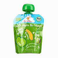 """FruchtBar  Bio-Früchte """"i love green"""" - Фруктовое пюре """"я люблю зеленый"""" 90 г, с 6 мес."""