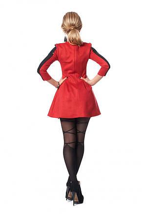 Стильное платье мини облегающего кроя из замша., фото 3