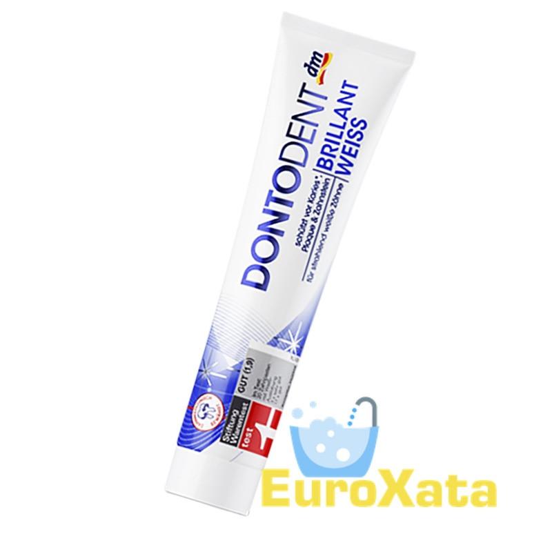 Зубная паста DM Dontodent Brillian Weiss (125мл) Германия