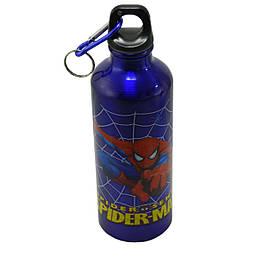Детский термос бутылка алюминиевая Disney 8003-500PP 500 ml с карабином, Spider Man
