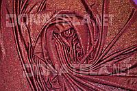 Трикотаж красный с золотим отливом