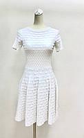 Платье белое расклешенное, фото 1