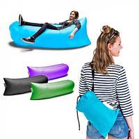 Надувной диван Ламзак (Ленивая софа), зеленый