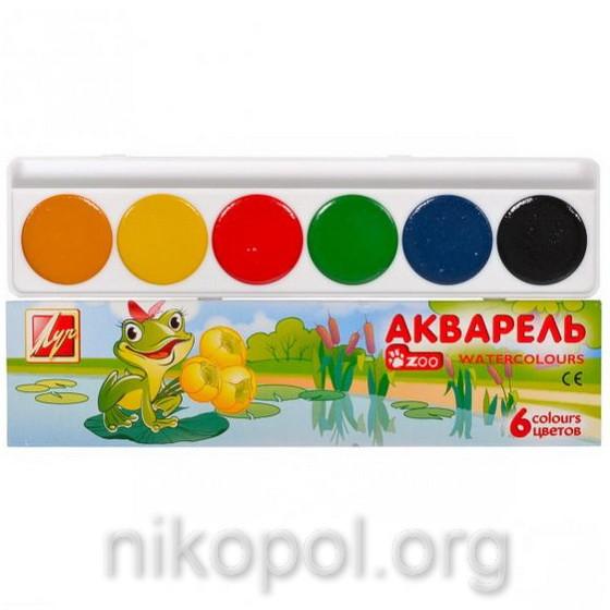"""Краски акварельные """"Луч - Мини"""" 6 цветов"""