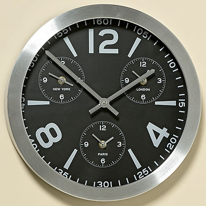 Часы Оклахома в серебре D35см