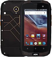"""Смартфон AGM A2 Black, 2/16Gb, 8/2Мп, 4 ядра, 2sim, IP68, экран 4"""" IPS, 2600mAh,  3G, Android , фото 1"""