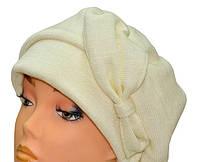 Берет  женский Ассоль зимний из шерсти  размеров 56-57, 57-58 белая