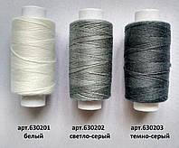6302 Нитки швейные джинсовые 20/3(армированные) , 360 ярд (разные цвета)