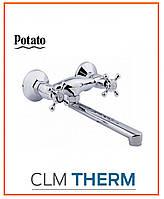 Смеситель для кухни Potato P4660 (длинный излив, буксовый)