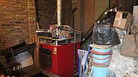 Котел на дровах бу Альтеп КТ-3/97кВт, с дымоходом и накопителем сажи 15г.