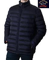 Куртка Paul Shark.Новинка ! Мужская теплая стеганная куртка.темно-синяя.