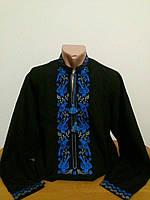 Мужская классическая черная вышиванка