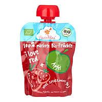 "FruchtBar Bio Фруктовое пюре ""я люблю красный"" 90 г, с 6 мес."