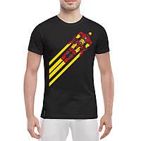 Мужская футболка - iron man полёт, отличный подарок купить со скидкой, недорого