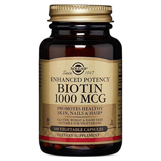 Биотин (Biotin) Solgar, 1000 мкг, 100 капсул