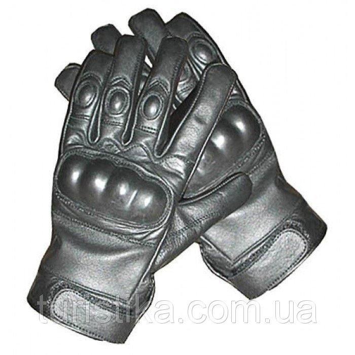 Тактические перчатки кожаные MilTec Black 12504102 S