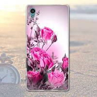 Оригинальный чехол бампер для Sony Xperia Z5 E6633 с картинкой Розовые розы