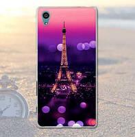 Оригинальный чехол бампер для Sony Xperia Z5 E6633 с картинкой Париж ночью