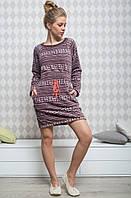 Теплое флисовое домашнее платье Key LHD 954 B6