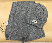 Набор шапка и шарф серые от UGG Accessories