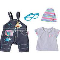 Одежда для кукол Беби Борн Baby Born комплект джинсовый стиль Zapf Creation 822210